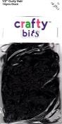 IMPEX CRAFTY BITS - Curly Doll Hair BLACK