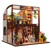 CuteBee Dollhouse Miniature with Furniture, DIY Wooden DollHouse Kit, 1:24 Scale Creative Room for Valentine's Day Gift Idea