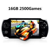 Handheld Game Console, Portable Video Game Console 16GB 13cm Screen 2500 Classic Games, Support / GBA / GBC / NES / BIN / SMC, Best Birthday and New Year Gifts for Kids – Black