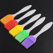 Food Silicone Brush And Strong PP Handle Dessert Mousse Chocolate Ice Cream Pastry Baking Tools Candy Colour Random