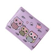 Tangbasi® Cartoon Owl Women Girls Wallet Purses Coin Purse Card Holder Trifold Short Wallet