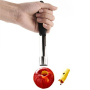 UPXIANG Soft-Grip Stainless Steel Apple Corer Fruit Seed Remover, 18cm