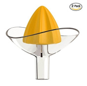 ducomi® Ultra Fresh Juice Manual Juicer with Funnel for Juices, Lemonade and aranciate directly into the glass
