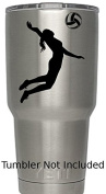 Volleyball Girls (Black) Womens Ladies Sport Decal (We don't sell tumblers) Stickers Decals for Yeti Tumblers Decal Ozark Trail Tumbler Decals 8.6cm H X 9.7cm W