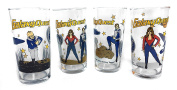 Galaxy Quest Cast & Crew Gift Collectible Drinking Glasses - Set of Four