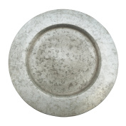 Fennco Styles Galavanized Rustic Metal 33cm Charger Plates-Set of 4