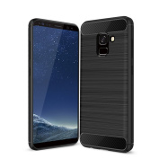 Acelive Black TPU Silicone Protective Case Cover for Samsung Galaxy A8 2018 SM-A530