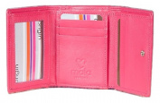 Mala Leather Premium Leather Pink or Plum ORIGIN Compact Leather Purse RFID 3273