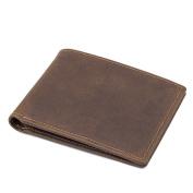 Credit Card Holder with Money Clip | RFID Blocking Wallet | Slim Wallet | Travel Wallet | Minimalist Mini Wallet for Men -brown