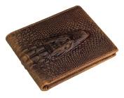 Credit Card Holder with Money Clip | RFID Blocking Wallet | Slim Wallet | Travel Wallet | Minimalist Mini Wallet for Men -Braun1