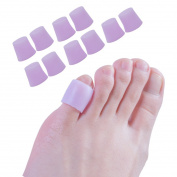 Sumiwish Toe Sleeves, Pinky Toe Sleeves, Silicone Toe Protectors for Pinky Toe Prevent Rubbing From Shoes, Little Toe Sleeves for Runners, Shoes, Heels, Sandal, Prevent Blisters, Calluses,Corn