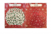 Christmas Holiday Paper Doilies 24ct Holly Ivy and 24Ct Snowflake Christmas Theme Bundle of 2
