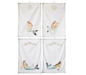 Mermaid Cotton Kitchen Tea Towel Set