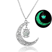 Scrox Necklace Hollow Moon Cute Owl Nights Necklace Jewellery accessories for Women Girls,With a Jewellery Bag