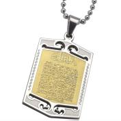 Unisex 316 L Stainless Steel Muslim Allah AYATUL KURSI Necklace Pendant
