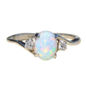 Women'S Silver Ring,Beauty Top Opal Diamond Jewellery Ring Round Diamond Gold Sunflower Jewellery Women Fashion Jewellery Simple Fashion Shiny Jewellery Lovers Ring Christmas Valentine'S