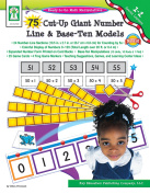 75 Cut-Up Giant Number Line and Base-Ten Models