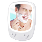Fogless Shower Mirror for Shaving and Makeup Bathroom Mirror with 3X Magnification