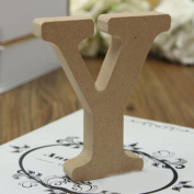 Wooden Alphabet, Woopower Freestanding A-Z Wood Wooden Letters Hanging Wedding Home Party Decor Name Plaques/Words/ Wall/Door Art/Craft/Sign,10cm/3.94