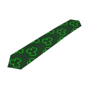 ALAZA Double-Sided Printing St Patricks Day Shamrock Pattern Table Runner 33cm x 180cm Long Table Top Home Decor