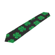 ALAZA Double-Sided Printing Happy St Patricks Day Shamrocks Table Runner 33cm x 180cm Long Table Top Home Decor
