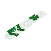 ALAZA Double-Sided Printing Happy St Patricks Day Table Runner 33cm x 230cm Long Table Top Home Decor