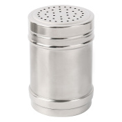 sourcingmap Stainless Steel Household Kitchen Salt Spices Condiment Cruet Bottle Silver Tone
