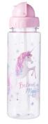 Beautiful Unicorn Design Water Bottle & Straw