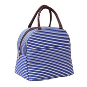 Portable Lunch Picnic Travel Insulated Cooler Tote Zipped Bag