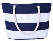 Skeyeye Fashion Stripe Girls Shoulder Bags Canvas Travelling Handbag(Beige)