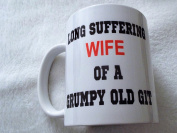 Long Suffering Wife of a Grumpy old Git 330ml ceramic mug gift valentines day mothers day xmas christmas