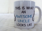 This is what an Awesome Uncle looks like 330ml cermaic mug gift valentines day mothers day xmas birthday