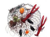 Netz mit Meerestieren and Fish