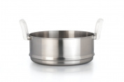 BergHOFF Auriga Stainless Steel Steamer Insert with Handles, White