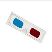 NiceButy 3D Glasses Paper 3D Glasses View Anaglyph Red Cyan/Blue 3D Glass For Movie Games Origami Toys