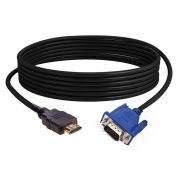 HDMI Cable Flashcat 1.8M HD 1080P HDMI to 15 Pin VGA Male Adapter Converter Cable Cord For PC HDTV
