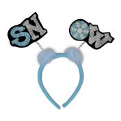 (12ct) Christmas Party Glittered Snow Boppers