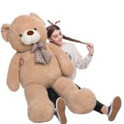 MorisMos Big Teddy Bear Stuffed Animals Plush Toy for Girlfriend Children Tan 100cm