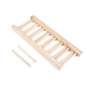 TOPmountain Dish Rack Wooden Plate Rack Compact Drying Rack Dish Drainer
