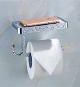 Sucastle® 18*9*62(cm) Zinc alloy Wall Mounted Bathroom Toilet Paper Holders Self Adhesive Toilet Paper Holder Wall Mount Contemporary Style