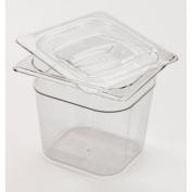Rubbermaid� Commercial Cold Food Pans, 2 1/1.9l, 6 3/8w x 6 7/8d x 6h, Clear