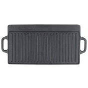 TableTop king 3451-55GRIDDLE 41cm x 23cm Double-Sided Cast Iron Griddle