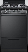 TTM1107CS 20 Gas Freestanding Range with 4 Sealed Burner Electronic Ignition Removable Burner Caps and Broiler Compartment in Black