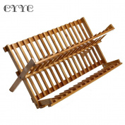 CYYC Multi-purpose Folding Bamboo Dish Rack Cutlery Holder