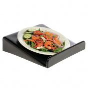 Square Black ABS Plastic Plate Displayer - 30cm L x 30cm W x 7.6cm H