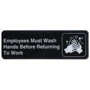 Winco - SGN-820cm - 7.6cm x 23cm Employee Hand Wash Sign by Winco