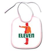 Funny Fan Made Seven Eleven Parody Art Polyester 9x8 Baby Bib