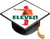 Funny Fan Made Seven Eleven Parody Art Grad Cap Decal - Vinyl Sticker Skin for Graduation Caps