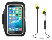 T 'nB Sppac KBT Adjustable Sport Armband Ultra Comfort Bluetooth Ergonomic Headphones Black/Yellow