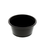 AmerCare Poly Black Portion Cup, 60ml, Case of 2500